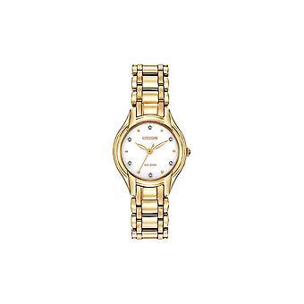 Citizen Ladies Eco Drive Silhouette Diamond Watch EM0282-56A