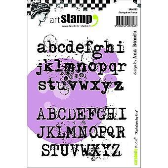 """Carabelle Studio """"alfabet"""" Cling stämpel, vit/Transparent, A6"""