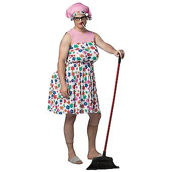 Manny Granny Male Old Women White Trash Grandma Funny Adult Mens Costume OS