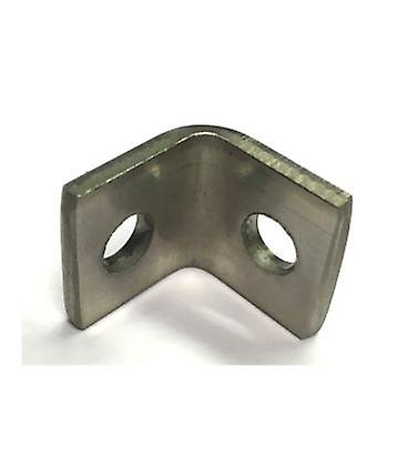 M6 2 Hole Angle Plate (1026) For Channels T304 Stainless Steel (as Unistrut / Oglaend)