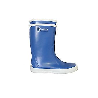 Aigle Lolly Pop Blue Rubber Wellington Boots