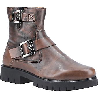 The Flexx Womens High Line Brushed Zip Ankle Boot Peanut
