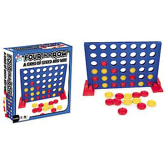 Kids Play Classic Four in Row Childrens Board Game Players 2 Ages 4+