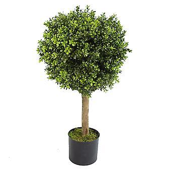 80cm Buchsbaum künstliche Formschnitt Buxus Kugel Baum - Extra breite 45cm Durchmesser