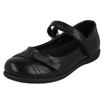 Girls Spot On School Shoes H2560