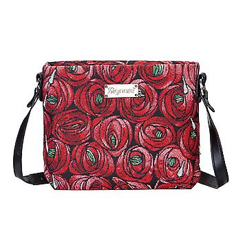 Mackintosh-Rose og teardrop Cross Body bag av signare billedvev/xb02-rmtd