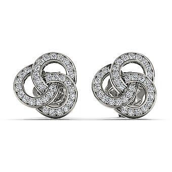 Igi sertifioitu kiinteä 10k valkoinen kulta 0,20 ct pyöreä leikattu timantti muoti korvakorut