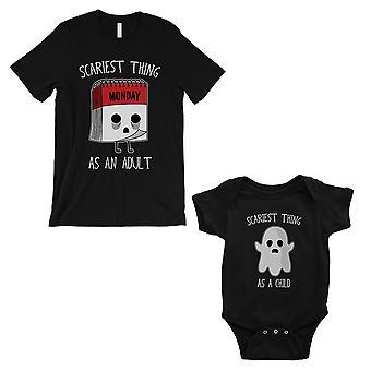 الأكثر رعبا كما الكبار الطفل مطابقة قميص أبي والطفل بوديوز الأسود