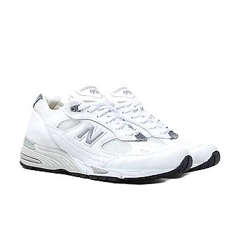 New Balance M991 Made in England Scarpe in pelle bianca e argentata
