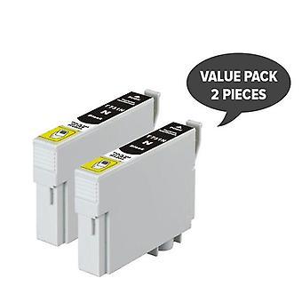 2 x 73N/T0731 pigment zwart compatibele inkjetcartridge