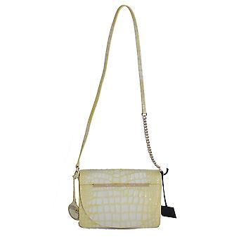 Cavalli Yellow Leather Hand Shoulder Bag