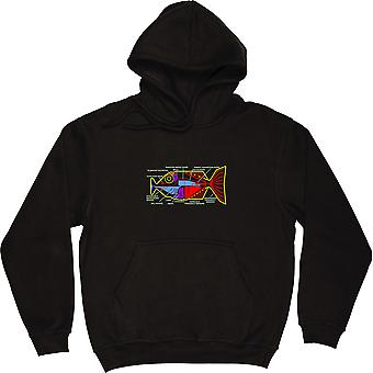 Babel Fish Black Hooded-Top