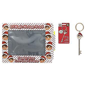 Kerst elf accessoires bundel-elf Key en elf Magic Message Board