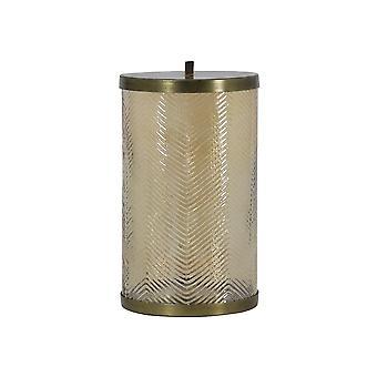 Jar de almacenamiento de luz y vida 15.5x29cm Tobyn vidrio oro brillo y bron antiguo