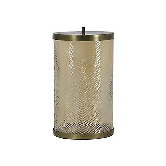Light & Living Storage Jar 15.5x29cm Tobyn Glass Gold Luster And Antique Bron