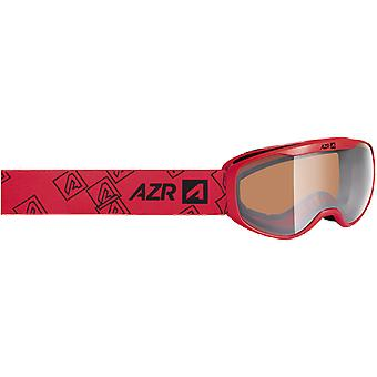 AZR Masque de ski enfant Funny Jr Rouge Mat Orange Silver