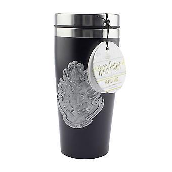Harry Potter tasse thermique Poudlard armoiries noires, 100% acier inoxydable, avec hangtag.