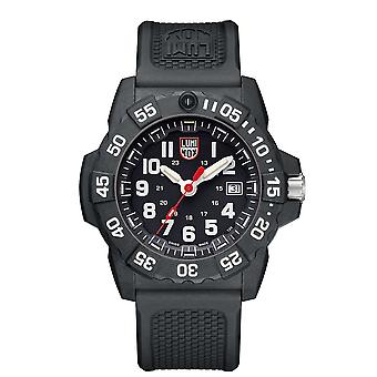 Luminox Navy SEAL Quartz Black Dial Rubber Strap With Extra Strap Men-apos;s Watch Set XS.3501.VP1.SET