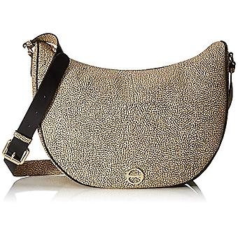Borbonese Luna Bag Middle Brown Women's Shoulder Bag (Safari) 30x32x12 cm (W x H x L)