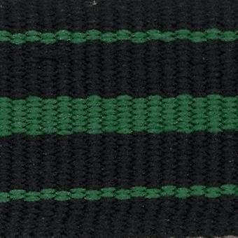 N.a.t.o zulu g10 style watch strap nylon 3 stripe black and green stainless buckle 18mm to 24mm