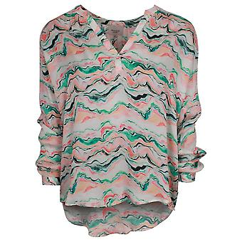 Primrose Park Sandy Green Wave Long Sleeve Top