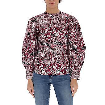 Isabel Marant ÉToile Ht169220p076e40fa Women's Fuchsia Cotton Blouse