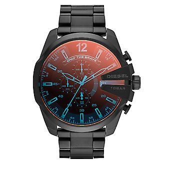Diesel Men's Mega Chief Chronograph Watch - DZ4318 - Black/Rust