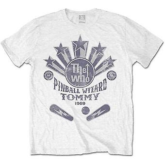 White The Who Pinball Flippers Officiel Tee-Shirt Mens Unisex