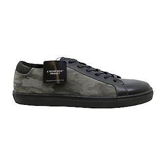Kenneth Cole New York Kam Mens Gray Leather & Suede Low Top Sneakers Shoes