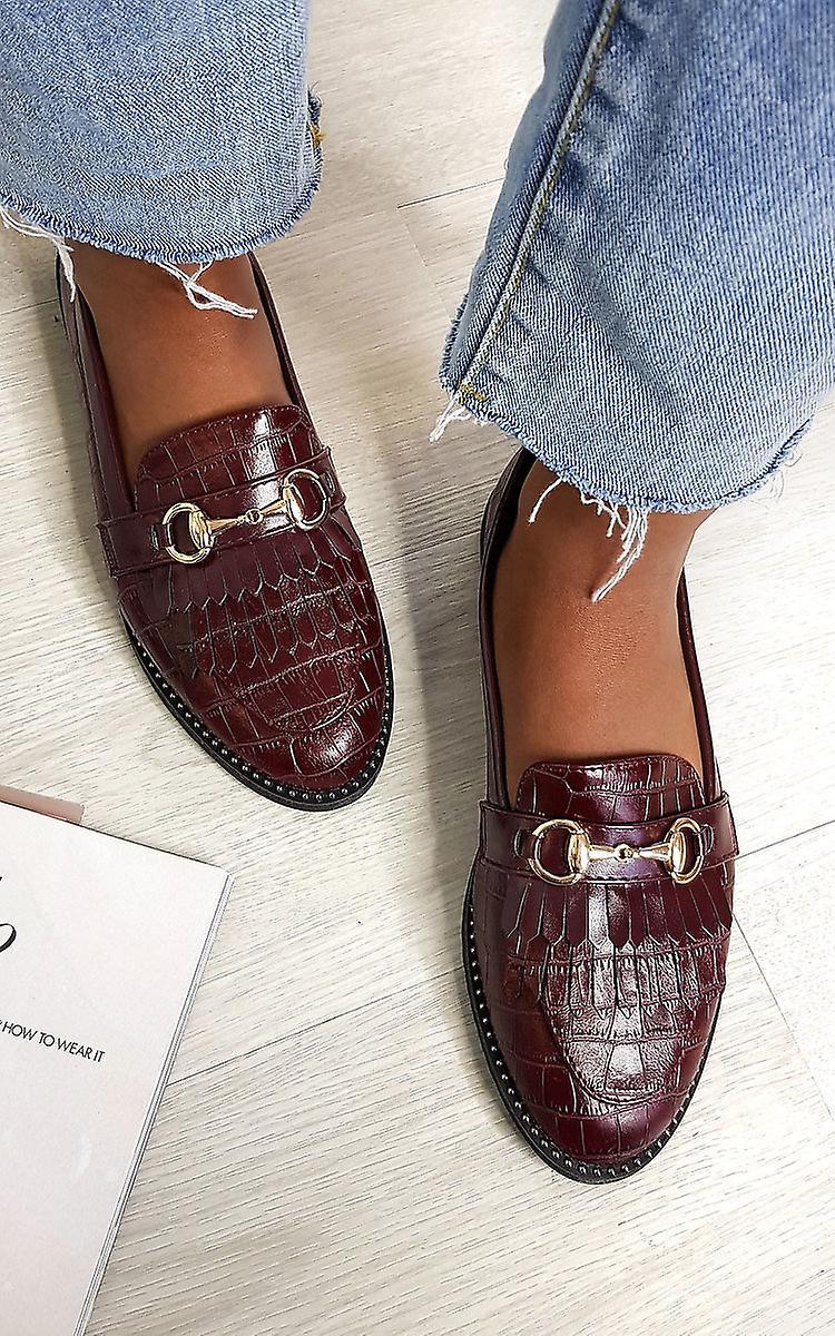 IKRUSH Womens Radley Faux Leather Loafer Flats uFNJ7