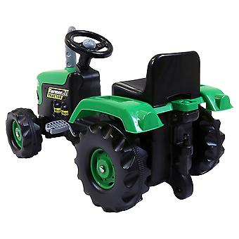 Dolu Barn & apos; s Ride On Traktor med Trailer Green