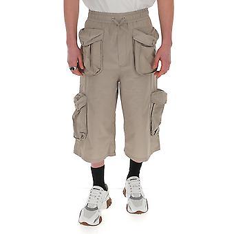 Sunnei Mt14ac703beig Men-apos;s Short en coton gris