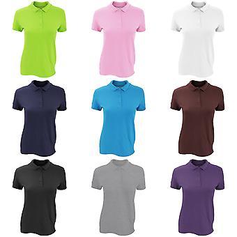 المرأة/السيدات جيلدان قسط الرياضة القطن بيكيه مزدوجة قميص بولو