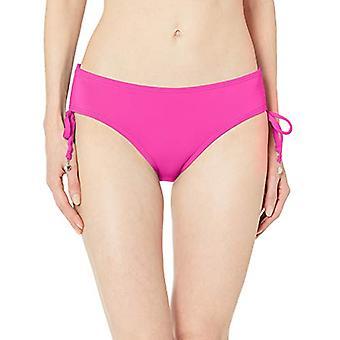 Anne Cole Women's Alex Solid Side Tie Adjustable Bikini, New Pink, Size X-Large