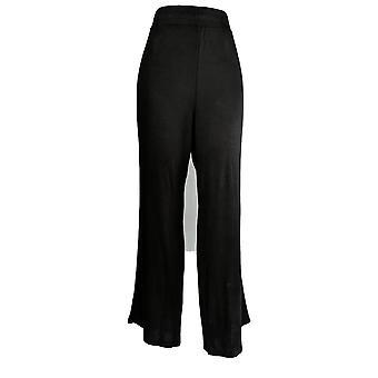 Anybody Women's Pants Hacci Wide Leg Pants Black A367688