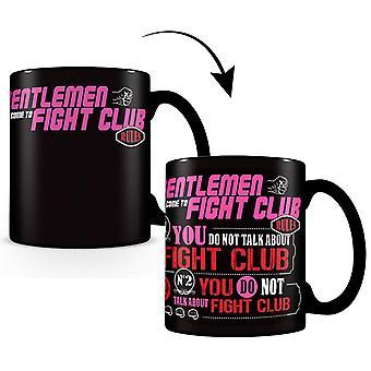 Fight Club Tasse Thermoeffekt Regeln schwarz, bedruckt, aus 100 % Keramik, Fassungsverm÷gen ca. 315 ml.