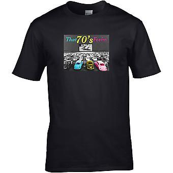 70-tallet følelse beetle classic - bilmotor - DTG trykt t-skjorte