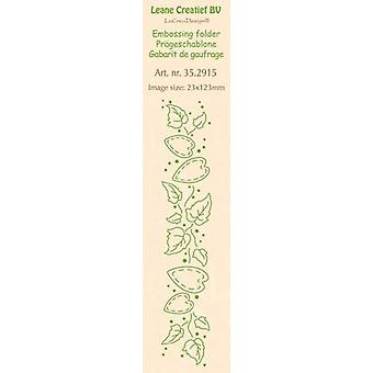 LeCrea - Border embossing folder Ivy & Hearts 35.2915 23x123mm