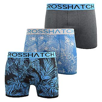Mens boxers shorts crosshatch multipacked 3pk underwear gift set 3 pack tresco