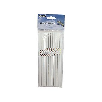 Straw Student blanc /or carton 24-pack