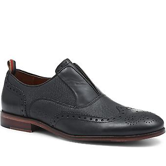 Jones Bootmaker Mens Abel Slip-On Brogue Shoes