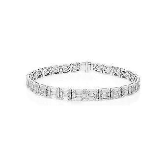Bracelet Bracelet Diamant - 18K 750/- Or Blanc - 7,85 ct. - 5A939W8-2