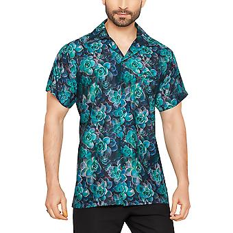 Clube cubana men's regular fit clássico manga curta camisa casual ccd2