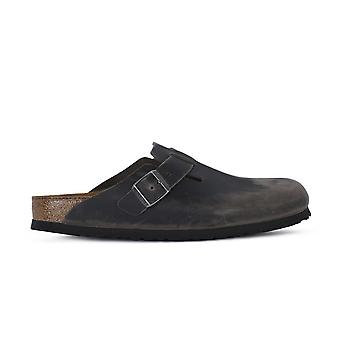 Birkenstock Boston Sfb Iron 1013256 universal summer men shoes