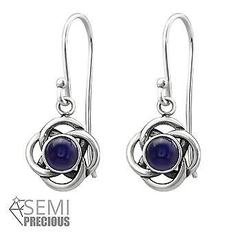 Celtic - 925 Sterling Silver Opal And Semi Precious Earrings - W31252x