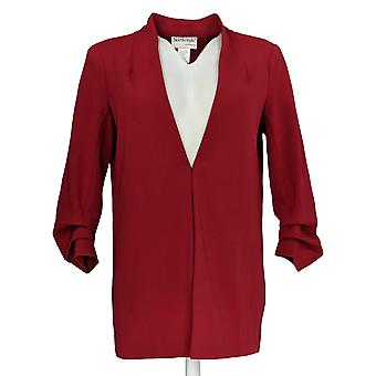 North Style Women's Open Front w/ Ruched Sleeves Jacket Red