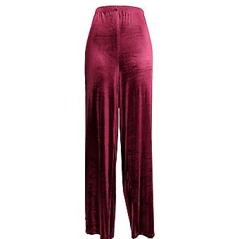 Kollektionen Etc Women's Lounge Pants Wide Leg Burgundrot