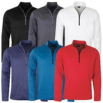 Callaway Golf Mens 2020 Pieced Waffle 1/4 Zip Thermal Golf Sweater