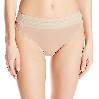 Warner's Women's No Pinching No Problems Cotton Lace Hi Cut Panty, Rich Black...