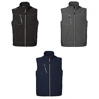 ID Mens Worker Soft Shell Three-Layer Regular Fitting Sleeveless Jacket/Vest